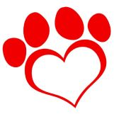 paw heart